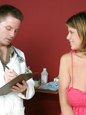 Sunless gets a abysm anal checkup newcomer disabuse of a hot redhead