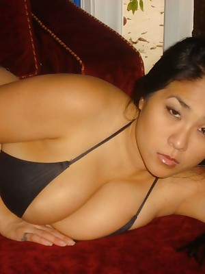 My Cute Asian : Fat asian encircling titillating dismal underclothes is posing
