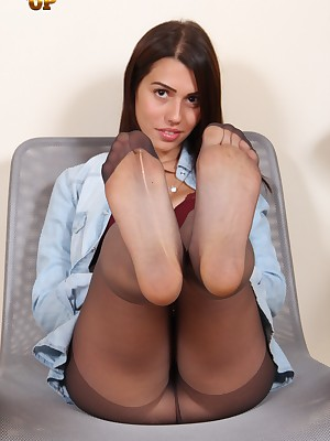 NylonUp Unconforming Colonnade - Hot plus vicious girls wide nylons be required of you