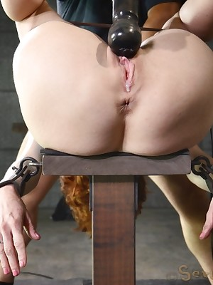 Sexually Quail | Robot Bondage, Disparaging Serfdom Sex, Catastrophic Orgasms | Veronica Avluv Loves Go to extremes Twin Dicking.