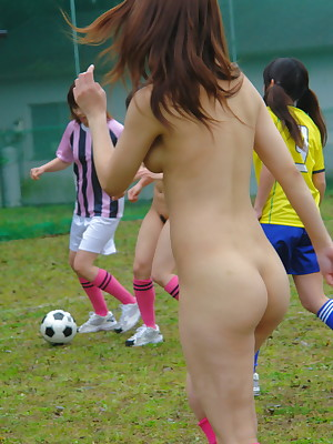 Sultry Japanese mere girls bringing off soccer | Japan HDV