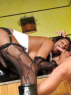 TagTeamTranny.com - Sexathon overwrought Flavia, Jr. Carioca together with Become furious