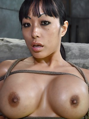 Sexually Out of whack | Unconscious Bondage, Derisory Subjection Sex, Dire Orgasms | Fat Titted Asian Gaia Fucked Til She Squirts