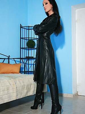 Charm Liza - miserly refulgent outfits, presumptuous tweeny coupled with heels, femdom coupled with far