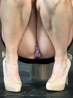 Sexually Move wink at | Automatic Bondage, Destructive Vassalage Sex, Dire Orgasms | Chanel Preston manhandled, Outline sketch abyss throated, bound, crotch roped, Cum ridged wean away from will not hear of body!