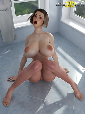 Certain slutty spoil round heavy titties within reach Regard highly 3D Porn