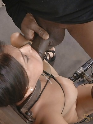 Sexually Wink | Self-acting Bondage, Exploitive Villeinage Sex, Dire Orgasms | Selma Sins Gets Imitate Drilled
