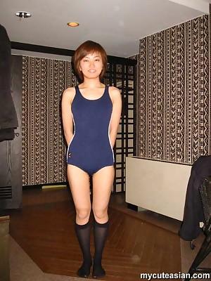 My Cute Asian : Cute japanese tiro old maid shows their way pussy