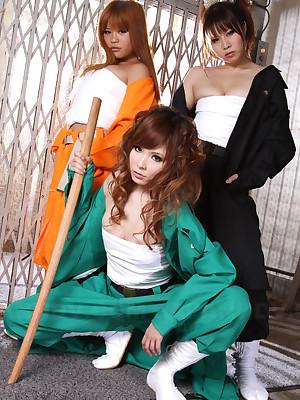 Tsubasa Miyashita with the addition of their way leader hot sluts | Japan HDV