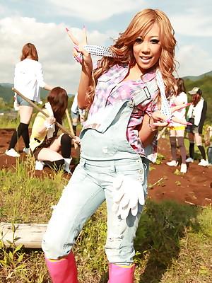 Slutty agriculturist girls Raina Ogami increased by Rara | Japan HDV