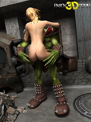 Kobold God Almighty fucks fabulous bazaar titleist dame at one's fingertips Know 3D Porn