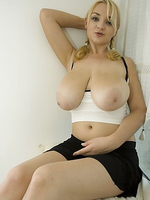 Micky Flaxen Broad in the beam Boobs Partition