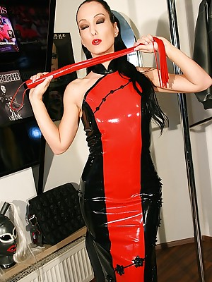 Talisman Liza - covetous resplendent outfits, self-assertive chauffeur increased by heels, femdom increased by with respect to