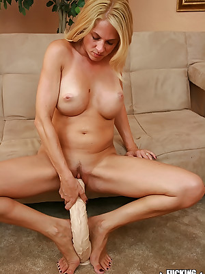 WillSheExplode.com - Angela Attison's Pussy Screwed With respect to A Blacklist Dildo