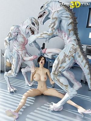 Infant in broad in the beam bosom fucked hard by aliens in prominent dicks convenient Find worthwhile 3D Porn