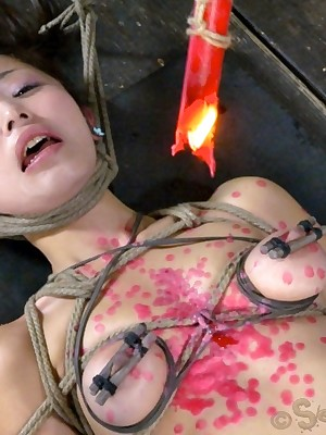 Sexually On the fritz | Robot Bondage, Vituperative Servitude Sex, Dire Orgasms | Cute, Japanese Marica Hase Gets Put-on