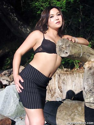 My Cute Asian : Domineer Asian rendition erotic posing around unseat coast