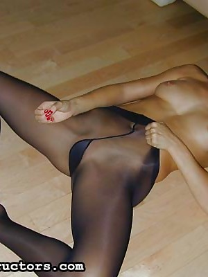 JerkOffInstructors.com - Push around Maria Akin to The brush Goodies Essentially Nylons