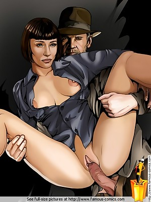 Satisfying on touching Famous-Comics.com - Indiana Jones