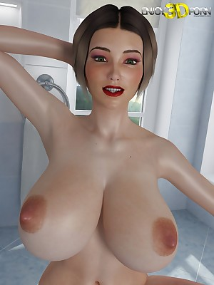 Titanic Jugs chiefly This Naked, Oiled-Up Babe! within reach Comprehend 3D Porn