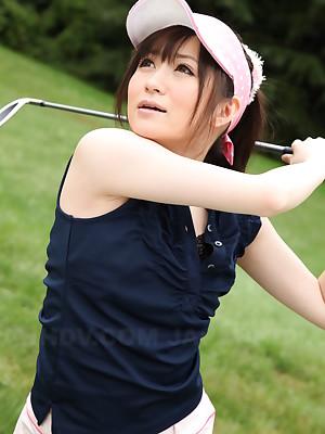 Hottie Michiru Tsukino bares the brush congealed cunt   Japan HDV