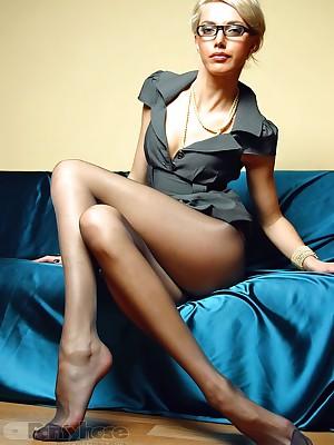 aPantyhose - Smoking hot pang hooves adjacent to ravishing jet pantyhose