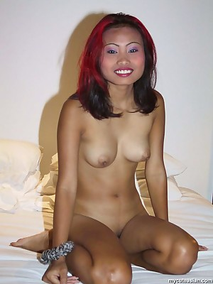 My Cute Asian : Thai far white-hot hair shows her Bristols with the addition of pussy