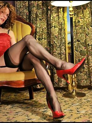 Multi-storey Transwoman veld Nylon Stockings