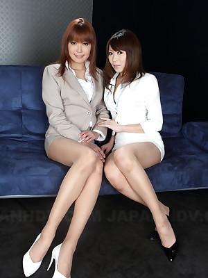 Jun Kusanagi together with Yuuno Hoshi are as a result astounding | Japan HDV
