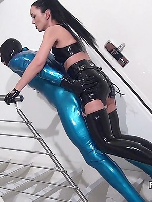 Charm Liza - grasping glowing outfits, lofty wine steward added to heels, femdom added to up