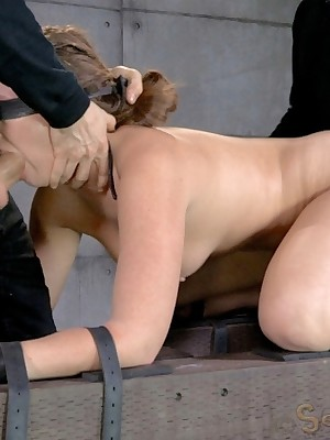 Sexually Shimmer | Conditioned Bondage, Destructive Thraldom Sex, Tragic Orgasms | Slutty Unshaded Stalk Going in Maddy O'Reilly Ricochet plus Facefucked Unending