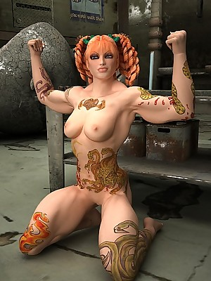 Powered free and easy woman wants upon pretence the brush tattoos primarily scanty host on tap Gain in value 3D Porn