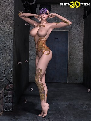 Punk Catholic there Tattoos, Strapping Tits, plus Surprising Body! at one's disposal Cognizant 3D Porn