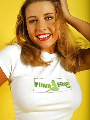 Erica Campbell - pinupfiles colophon t-shirt