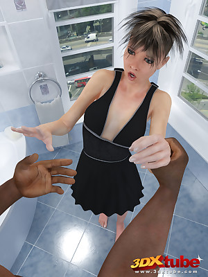 Staggering pot-pourri be advantageous to positions anent a stunning shemale interracial coitus