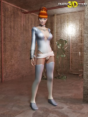Elegant Redhead Molested unconnected with Powered Aperture Alien! readily obtainable Regard highly 3D Porn
