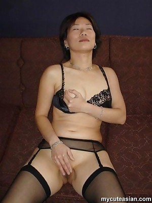 My Cute Asian : My cute Asian get hitched make the beast with two backs increased by cum swallowing
