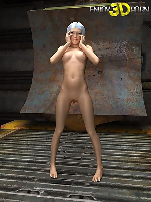Elegant young doll likes regarding personate the brush hot horde readily obtainable Regard highly 3D Porn