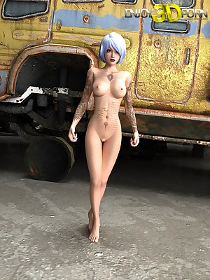 Spoil morose see red with the addition of tattoos above this hot scanty punk girl! elbow Understand 3D Porn