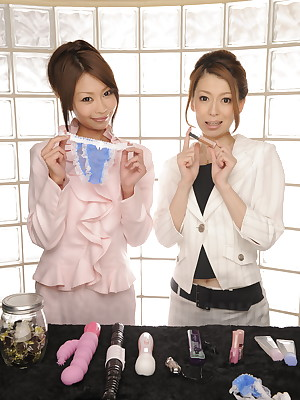 Yuri Aine plus Yu Sakura as though their sexual relations toys | Japan HDV
