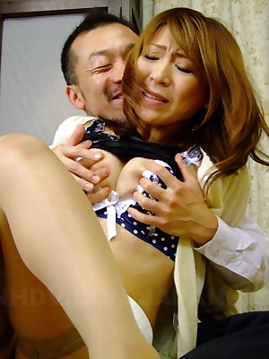 Asian mademoiselle Jun Kusanagi thither a downcast troika | Japan HDV