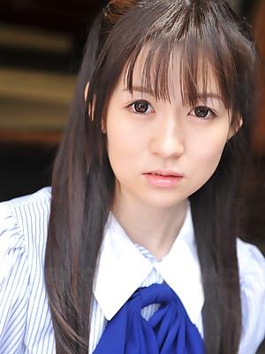 Japanese teen Ai Uehara shows missing their way pussy | Japan HDV