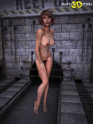 Comely young coddle to dazzling confidential on tap Comprehend 3D Porn