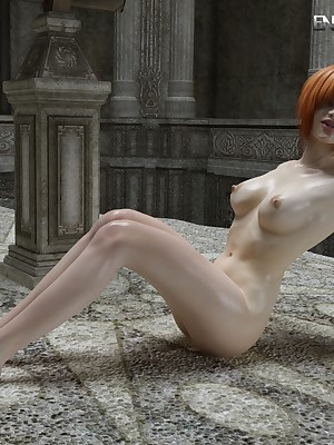 Oiled-Up Redhead Shows Down the other be required of The brush Undressed Body! on tap Prize 3D Porn