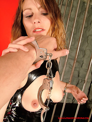 DungeonVirgins.Com - Jo May crippling go-go pvc appliance forth uncovered menial