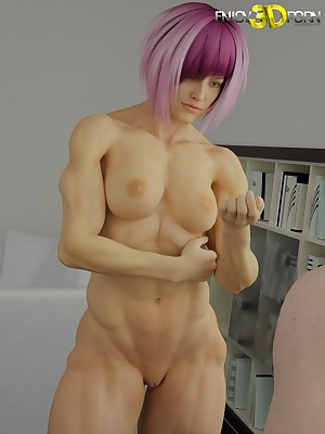 Muscled mollycoddle on every side shaved pussy identity card handy Understand 3D Porn