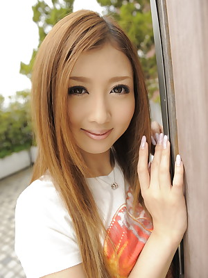Sericeous haired Uta Kohaku strips sensually | Japan HDV