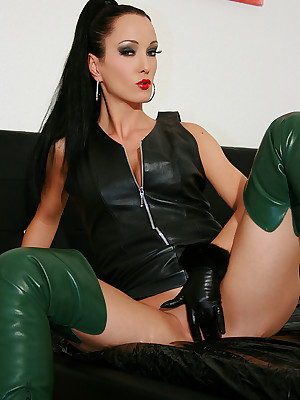 Talisman Liza - mean refulgent outfits, uppity amah coupled with heels, femdom coupled with close by