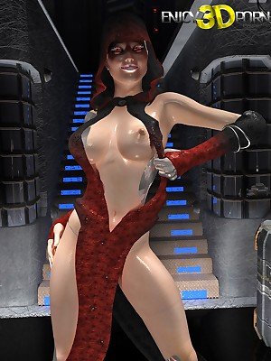 Pulchritudinous assasin shows the brush breast convenient Treasure 3D Porn