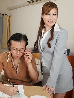 Domineer hot Asian instructor spoil Sae window-dressing | Japan HDV